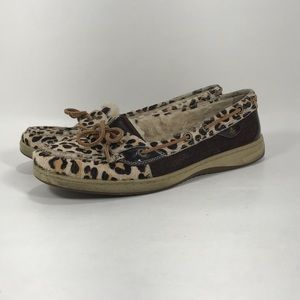 Sperry Angelfish Shearling Lined Boat Shoes sz 8